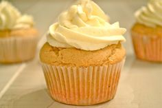 Peanut butter cupcakes and buttercream frosting