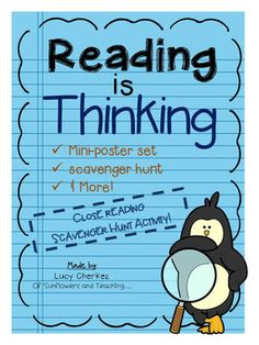 Simplify teaching reading strategies with these mini-posters and scavenger hunt activity set!  The activities may be used as center activities or a stand alone project - a great variation to a traditional book report!Included are:-mini-posters-notebook-sized posters- student cover page- student instructions- instructions and ideas for use for the teacher- scavenger hunt activity sheets-Graphic organizers for reading…