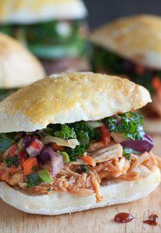 Spicy Crockpot Pulled Pork Sandwiches - Modern housewife