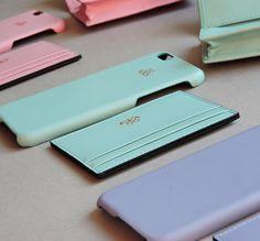 Yeni koleksiyonumuz Soft renklerde iphonecase 6/6plus Klasik kartlik ve kapakli kartlik set Soft pembe Mavi Su yesili . #serapaktugleathergoods…