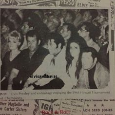 Elvis, Priscilla and his entourage at the 1968 Tournament of Champions while on vacation in Hawaii Elvis And Priscilla, Lisa Marie Presley, Priscilla Presley, Great Love Stories, Love Story, Karate Tournaments, Memphis Mafia, Fire Eyes, Family Photo Album