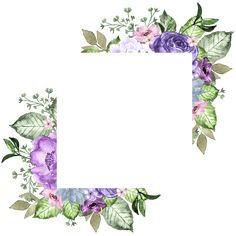 Wonderful Cost-Free Purple Flowers frame Tips Purple flowers are among the a lot of impressive and adaptable plants for almost any garden. Floral Drawing, Watercolor Drawing, Watercolor Flowers, Drawing Art, Flower Frame, Flower Art, Purple Flowers Wallpaper, Blue Lotus Flower, Floral Save The Dates