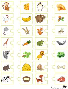 Educational game to print, who eats what Education educational games Preschool Learning Activities, Preschool Worksheets, Infant Activities, Teaching Kids, Activities For Kids, Autism Education, Educational Activities, Kids And Parenting, Free Images