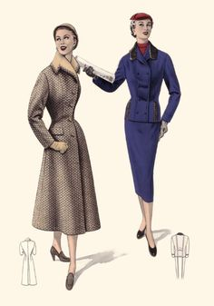 1955 Fitted Coat