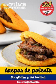 Polenta, Rica Rica, Hamburger, Gluten Free, Keto, Bread, Ethnic Recipes, Easy, Food