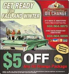 oil change coupon va