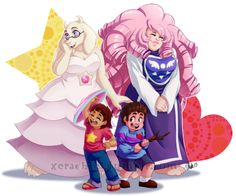 Another Steven Universe and Undertale Crossover. Undertale Toriel, Undertale Fanart, Steven Universe Crossover, Steven Universe Comic, Steven Univese, Undertale Pictures, Toby Fox, Fandom Crossover, Cartoon Crossovers