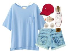 """I'm just in a really happy place right now☺️"" by carolinaprep137 on Polyvore featuring Uniqlo, Kendra Scott, Links of London, Converse and Olivia Burton"