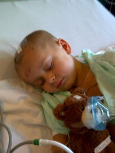 Brycen, 5, after a surgery. Brycen was diagnosed with an inoperable brain tumor in June of 2010, mom Tracy Dillinger writes. Updates on Brycen's conditions are on this page: http://facebook.com/brycen.the.brave