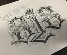 Eight One Eight // I have some available time today, if interested call me at // Tattoo Lettering Styles, Chicano Lettering, Tattoo Script, Graffiti Lettering, Lettering Design, Tattoo Fonts, Hand Lettering Alphabet, Graffiti Alphabet, Number Tattoos
