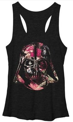 Star Wars The Force Awakens TFA Vader Floral Helm Tank Juniors T-Shirt