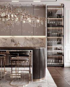 Luxury Kitchen Design, Kitchen Room Design, Home Room Design, Luxury Kitchens, Home Decor Kitchen, Modern House Design, Interior Design Living Room, Kitchen Modern, Luxury Interior Design
