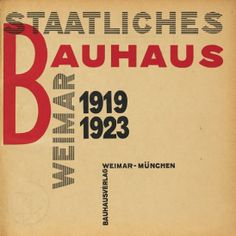 BAUHAUS: Laszlo Moholy-Nagy, title page Staatliches Bauhaus in Weimar.