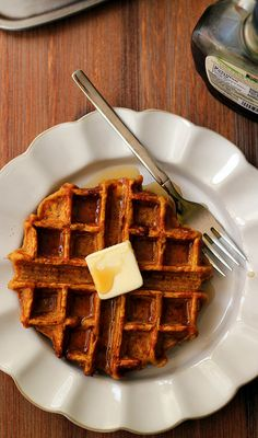Start your day with a little bit of excitement when these brown butter pumpkin chai waffles are on the menu! Full of vitamin A and warm spices they taste like every fall morning should.
