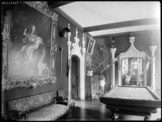 Chateau de Pont Remy (Chateau Clochard) interior in the late 1800's