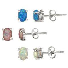 Glitzy Rocks Sterling Silver Multi-colored Created Opal Stud Earring Set    http://www.overstock.com/Jewelry-Watches/Glitzy-Rocks-Sterling-Silver-Multi-colored-Created-Opal-Stud-Earring-Set/5517653/product.html?refccid=EHRMTCHPUV6KLKKGEKR5PRBHKM=17