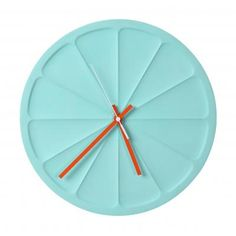Dome. - a clock by Dome. - Wall clock in Mint Green