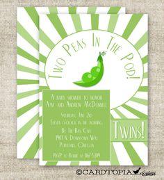 TWIN BABY SHOWER Invitations Digital Printable by CardtopiaDesigns