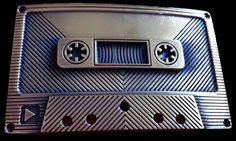 RETRO MUSIC TAPE RECORDER CASSETTE ROCK BELT BUCKLE
