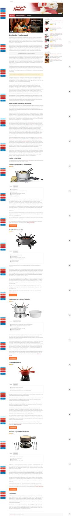 Addicted to Fondue provides Fondue pot reviews from all the best and most popular brands & also gives all basic info about Fondue & Fondue pots. http://www.addictedtofondue.com/