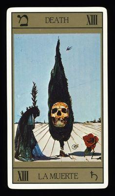 The Death card from Salvadore Dali's Universal Dali Tarot deck