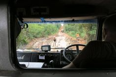 Checking the road ahead en route for Liberia (photo via passenger Zinzi Speear) Liberia, West Africa, Roads, Fun, Travel, Road Routes, Street, Viajes, Traveling