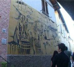 """Graffiti a Casoli di Camaiore. Istituto Statale d'Arte """"Stagio Stagi"""" Pietrasanta."""
