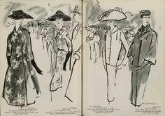 Paris Fashion Illustration 1956 Lanvin, Balmain. Patou.....