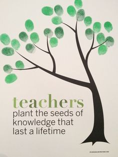 Classroom Fingerprint Tree- perfect gift for teacher appreciation - printable