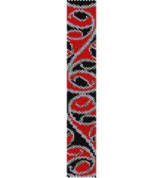 Maori Design Bracelet Peyote Pattern