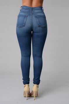 Super High Waist Denim Skinnies - White | Instagram, Skinny jeans ...