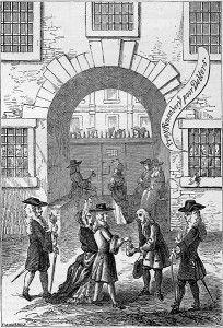 Fleet Prison, where the poor often got poorer  Also London's largest brothel.