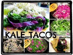 """Kale Tacos - This recipe definitely belongs in the """"try to make people love kale, who don't"""" category, just like my """"Melt in Your Mouth Kale Salad."""" Enjoy! #kaletacos #vegetariantacos"""