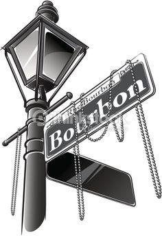 Vector Art : Bourbon Street Sign