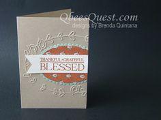 Qbee's Quest: Paisleys & Posies Note Card