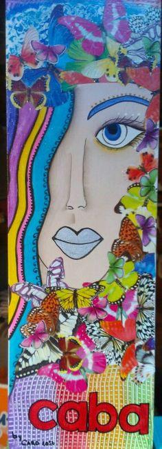 Pintura decorativa y decoupage en caja de madera