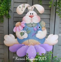 #601 Bunny Flower Pail/Stake (PATTERN PACKET)