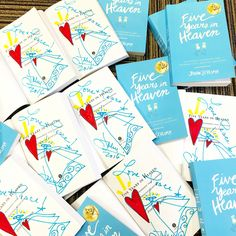 """Just inked Guardian Angels in copies of the new """"Five Years in Heaven"""" paperback for the Benedictine Gift Shop ~ Stop in or call 814-781-1019 to order! +++++ #FiveYearsInHeaven #bookclub #gift #GuardianAngel #angel #angels #signedbook #friends #friendship #mentor #Catholic #Christian #Spiritual #faith #devotion #artist #ceramics #art #artwork #love #hope #peace #memoir #nonfiction #book #books"""