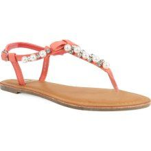 Coral sandal with pearls! It could only be better if they added a hint of turquoise.