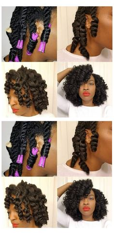 ENJOY SEEING THESE 21 curly perm rod set looks! If you have very thick type 4 kinky natural hair, sh Natural Hairstyles Photos, Black Women Hairstyles, Hairstyle Photos, Hairstyles Pictures, Black Women Natural Hairstyles, Hairstyle Ideas, Hairstyles For Natural Hair, Black Hair Braid Hairstyles, Short Relaxed Hairstyles