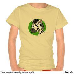 Cute zebra cartoon shirt