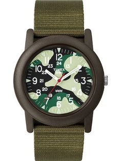 Timex Unisex Camper Camouflage Dial Resin Case Green Fabric Strap Watch T2N207 Timex. $99.95. Timex Unisex Camper Camouflage Dial Resin Case Green Fabric Strap Watch T2N207