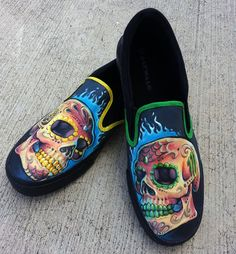 Design Your Own Custom Painted Canvas Shoes by DBDrea on Etsy, $110.00 Painted Canvas Shoes, Custom Painted Shoes, Hand Painted Shoes, Custom Vans, Art Club Projects, Fabric Shoes, Shoe Art, Swagg, Designer Shoes