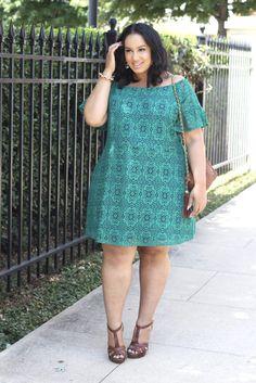 Green Dress | Plus Size Outfit Idea | Plus Size Fashion | Plus Size Lace Dress