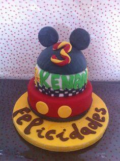 Tarta Mickey Mouse + Rayo Mcqueen, para la gran fiesta de mi peque, 3años