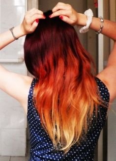 Red Ombre #hair #redhair #ombre