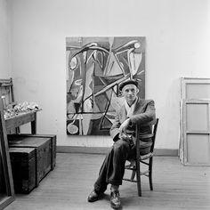 Bram van Velde, Paris 1950 by Jo Bokma