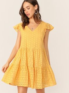 To find out about the Eyelet Embroidered Tiered Ruffle Dress at SHEIN, part of our latest Dresses ready to shop online today! Eyelet Dress, Ruffle Dress, Ruffles, Strapless Dress, Cute Dresses, Casual Dresses, Summer Dresses, Rent Dresses, Embroidery Dress
