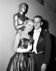 Joanne Woodward for 'Three Faces of Eve' 1957 with her husband Paul Newman