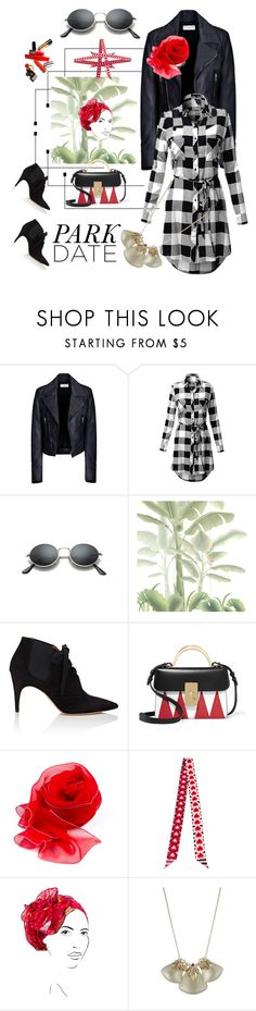 """Park Date"" by rita257 ❤ liked on Polyvore featuring Balenciaga, Ami Sanzuri, Misha, Derek Lam, The Volon, Fendi, Rinati Lakel, Alexis Bittar, men's fashion and menswear"